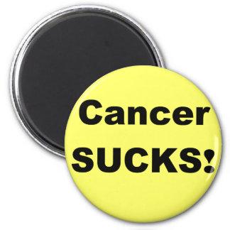 El cáncer chupa imán redondo 5 cm