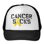 El cáncer chupa - la cinta del cáncer de la niñez gorra