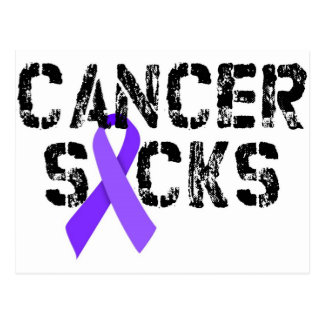 El cáncer chupa - la cinta del cáncer del linfoma tarjetas postales