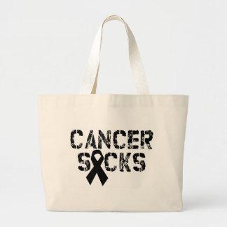 El cáncer chupa - la cinta del cáncer del melanoma bolsa tela grande