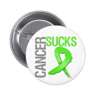 El cáncer chupa - linfoma Non-Hodgkin Pin Redondo De 2 Pulgadas