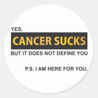 El cáncer chupa pero no le define pegatina redonda