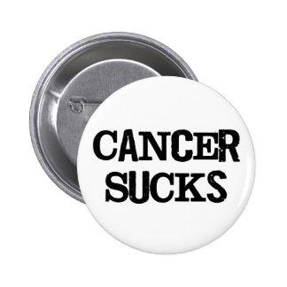 El cáncer chupa pin redondo de 2 pulgadas