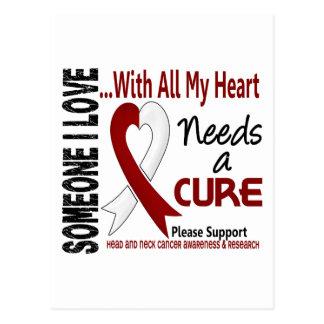 El cáncer de cabeza y cuello necesita una curación tarjeta postal