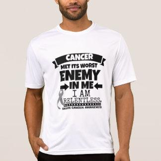 El cáncer de cerebro hizo frente a su enemigo peor camisas
