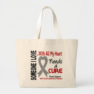 El cáncer de cerebro necesita una curación 3 bolsa tela grande