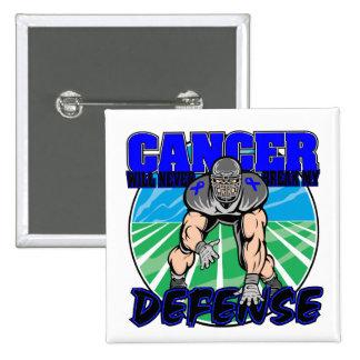 El cáncer de colon nunca romperá mi defensa pin cuadrado