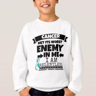 El cáncer de cuello del útero hizo frente a su sudadera