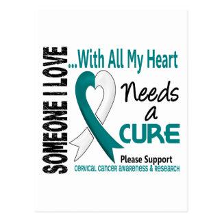 El cáncer de cuello del útero necesita una curació tarjeta postal