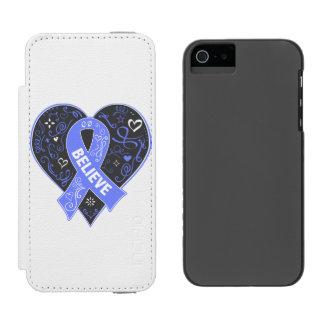 El cáncer de estómago cree el corazón de la cinta funda billetera para iPhone 5 watson