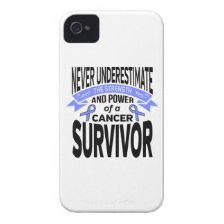 El cáncer de estómago nunca subestima fuerza iPhone 4 Case-Mate protectores