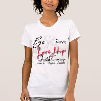 El cáncer de hueso cree el collage del corazón camisetas