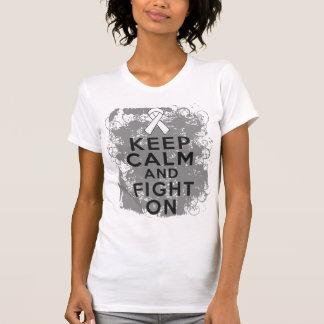 El cáncer de hueso guarda calma y lucha On.png Camiseta