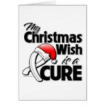 El cáncer de hueso mi deseo del navidad es una cur tarjetas