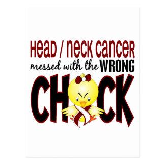 El cáncer de la cabeza/del cuello ensució con el postal