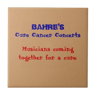 El cáncer de la curación de Bahres concierta la pl Azulejo Cuadrado Pequeño