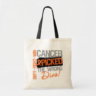 El cáncer de la leucemia escogió a la diva incorre bolsa de mano