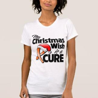 El cáncer de la leucemia mi deseo del navidad es remeras