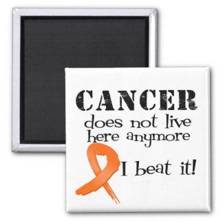 El cáncer de la leucemia no vive aquí más imán cuadrado