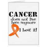 El cáncer de la leucemia no vive aquí más felicitación