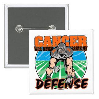 El cáncer de la leucemia nunca romperá mi defensa pin cuadrada 5 cm