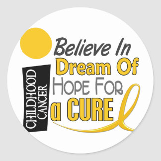 El cáncer de la niñez CREE ESPERANZA IDEAL Pegatina Redonda