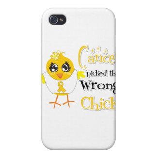 El cáncer de la niñez escogió el polluelo incorrec iPhone 4 carcasas