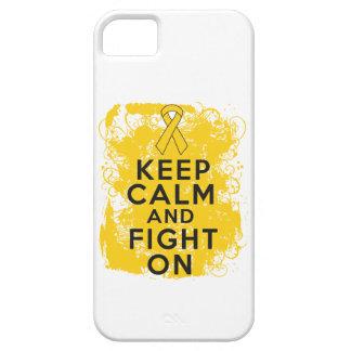 El cáncer de la niñez guarda calma y sigue luchand iPhone 5 funda