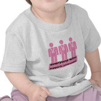El cáncer de pecho cada uno gana con conciencia camiseta