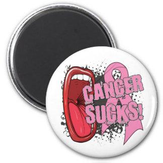 El cáncer de pecho chupa grito él imán redondo 5 cm