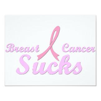 """El cáncer de pecho chupa invitación 4.25"""" x 5.5"""""""