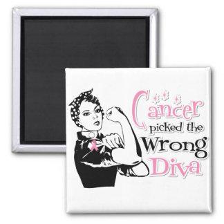 El cáncer de pecho escogió a la diva incorrecta imán cuadrado