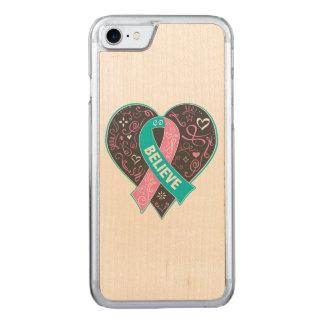 El cáncer de pecho hereditario cree el corazón de funda para iPhone 7