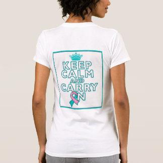 El cáncer de pecho hereditario guarda calma y camiseta