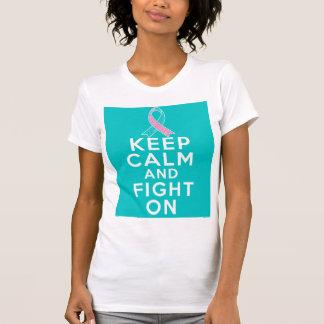 El cáncer de pecho hereditario guarda calma y sigu camisetas