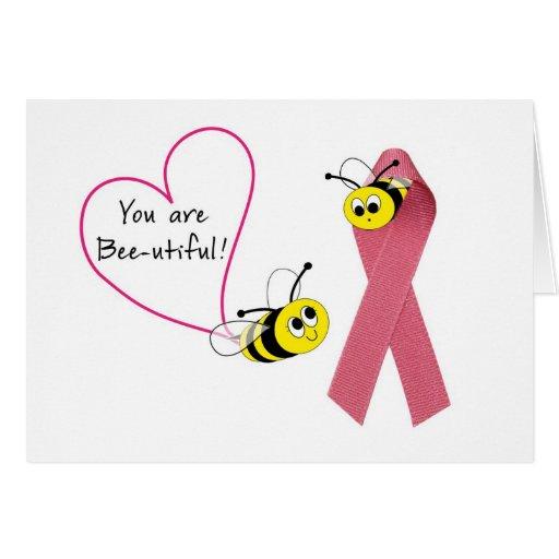 El cáncer de pecho le manosea Abeja-es hermoso Tarjeta De Felicitación