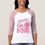 ¡El cáncer de pecho listo, sistema, va rosa! Camisetas