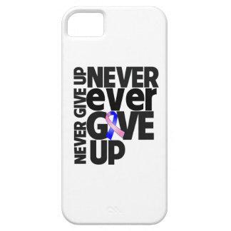El cáncer de pecho masculino da nunca nunca para iPhone 5 Case-Mate protectores