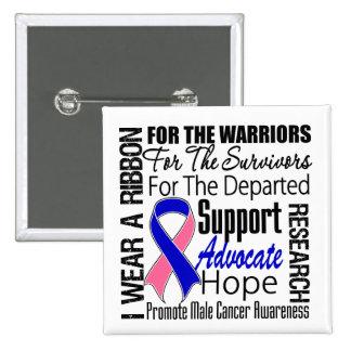 El cáncer de pecho masculino llevo un TRIBUTO de l Pin Cuadrada 5 Cm