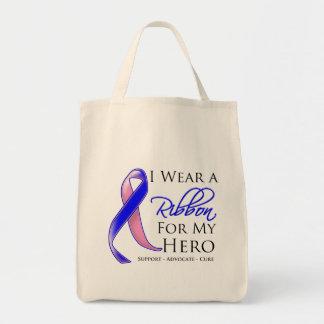 El cáncer de pecho masculino llevo una cinta para bolsa tela para la compra