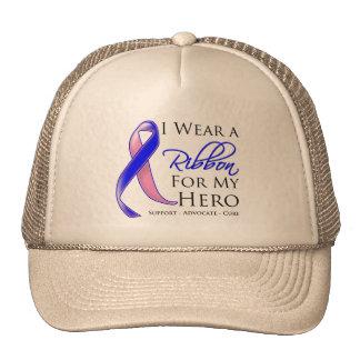 El cáncer de pecho masculino llevo una cinta para  gorros bordados