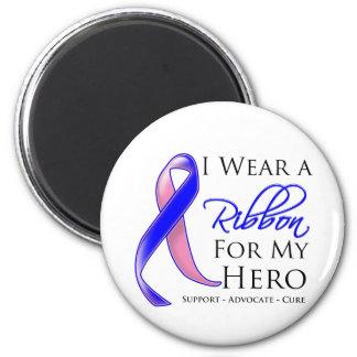 El cáncer de pecho masculino llevo una cinta para  imán redondo 5 cm
