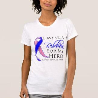 El cáncer de pecho masculino llevo una cinta para  t shirt