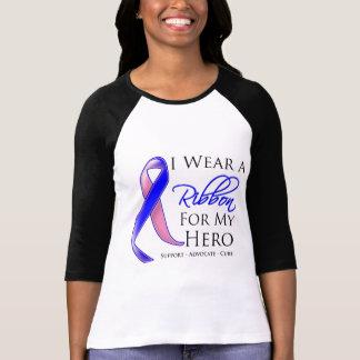 El cáncer de pecho masculino llevo una cinta para tee shirt