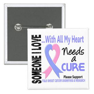 El cáncer de pecho masculino necesita una curación pin