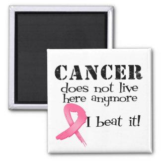 El cáncer de pecho no vive aquí más imán de frigorifico