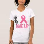 El cáncer de pecho nunca da para arriba camisetas
