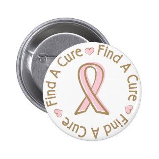 El cáncer de pecho rosado de la cinta encuentra un pin redondo de 2 pulgadas