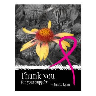 El cáncer de pecho rosado de la cinta le agradece  postal