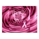 El cáncer de pecho rosado del remolino le agradece postal